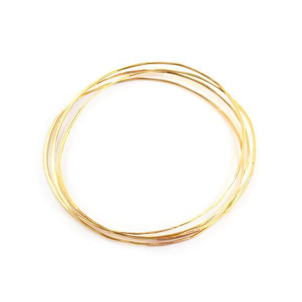 hand hammered bangles<br>14k gold fill