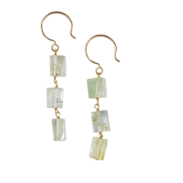 ella aqua earrings