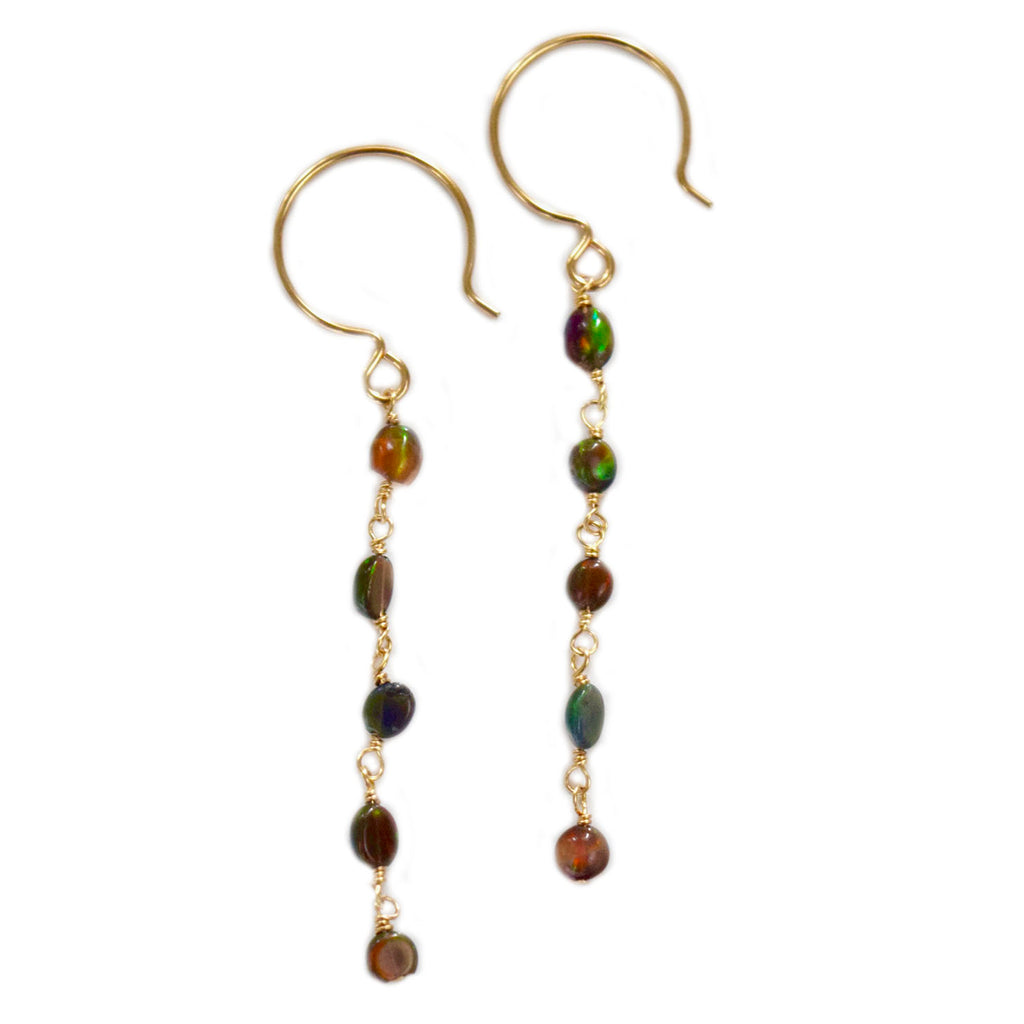lizzie black opal dangles