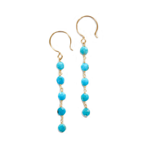 lizzie turquoise dangles