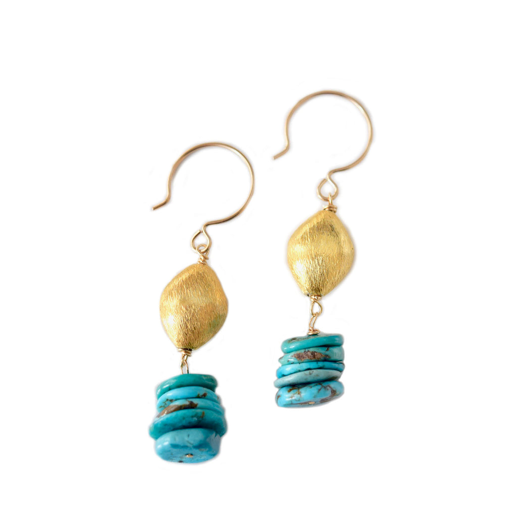 mille turquoise earrings