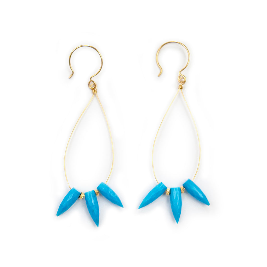 tricia turquoise hoops