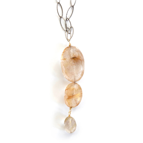 hope rutilated quartz necklace