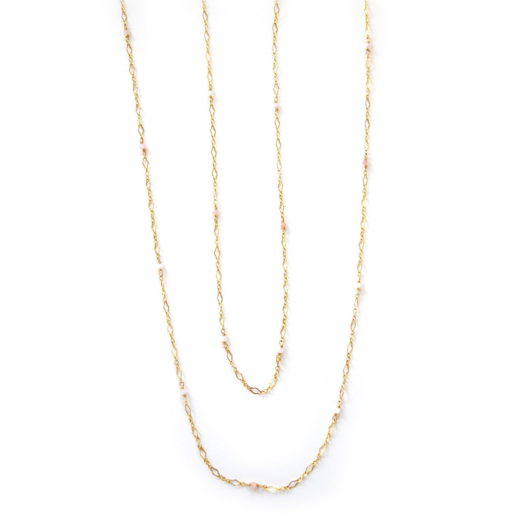 paloma pink opal necklace