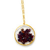 garnet shaker necklace