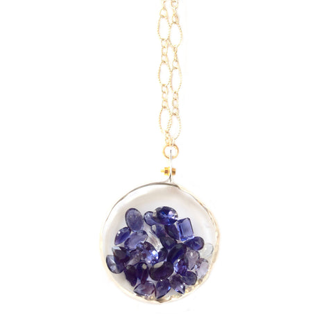 tanzanite shaker necklace