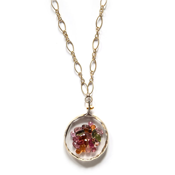 tiny tourmaline shaker necklace