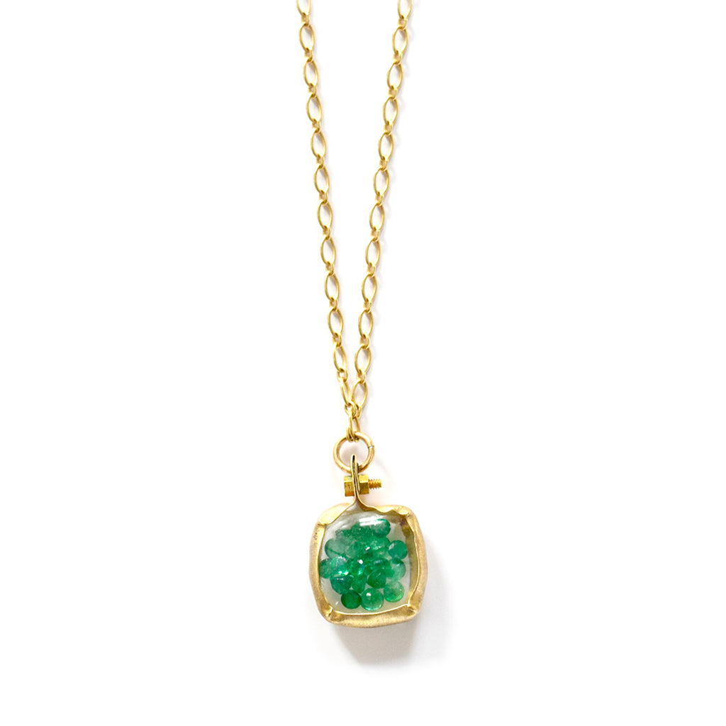 emerald signature necklace