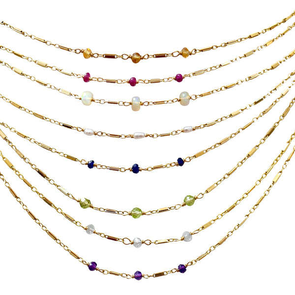 tara birthstone necklace