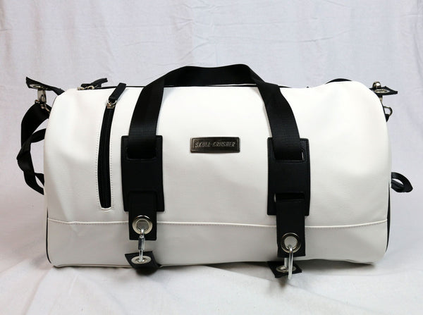 Classy White Faux Leather Bag (Medium)