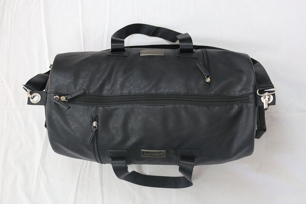 Classy Black Faux Leather Bag (Large)