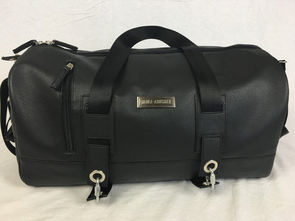 Classy Black Faux Leather Bag (Medium)