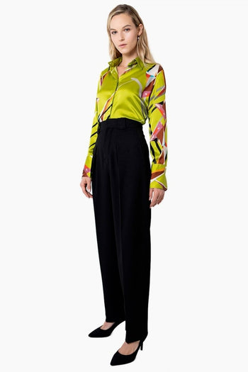 Attitude Silk Blouse - Jewel Green