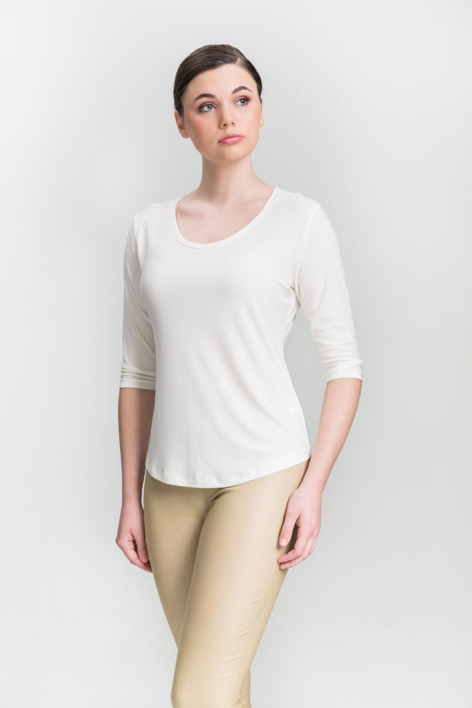 Scoop Neck - Off-White - Farinaz Taghavi