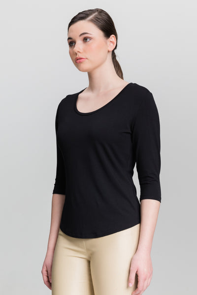 Scoop Neck - Black