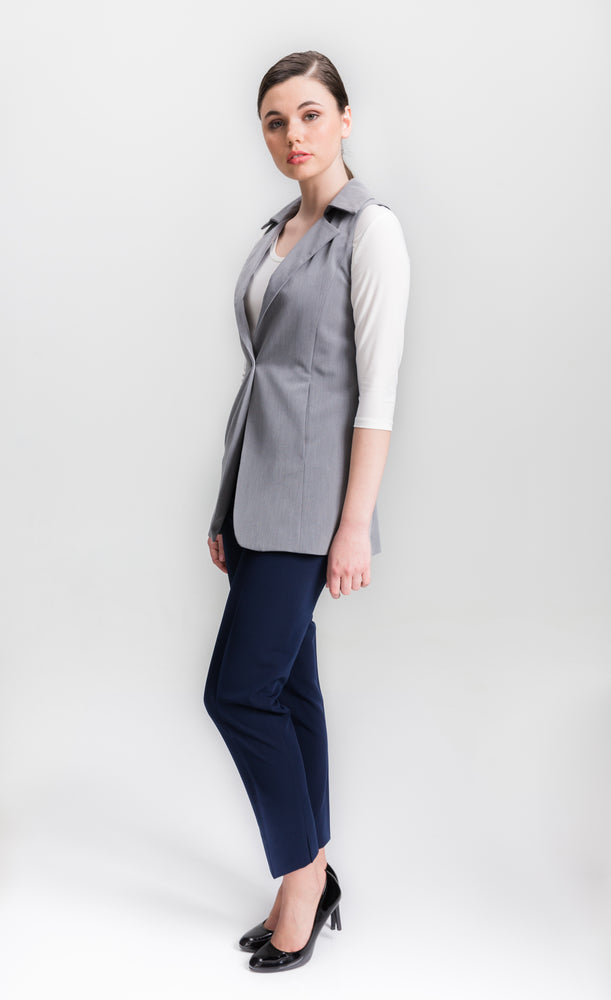 Light Gray Vest - Farinaz Taghavi