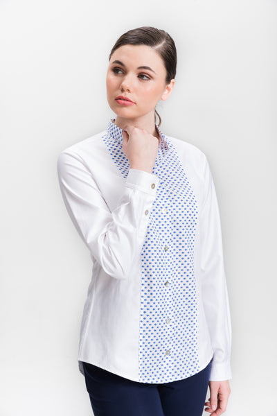 Classic Dress Shirt with Long Tail - White