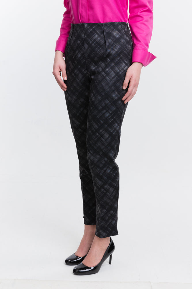 Slim Pant - Plaid - Farinaz Taghavi
