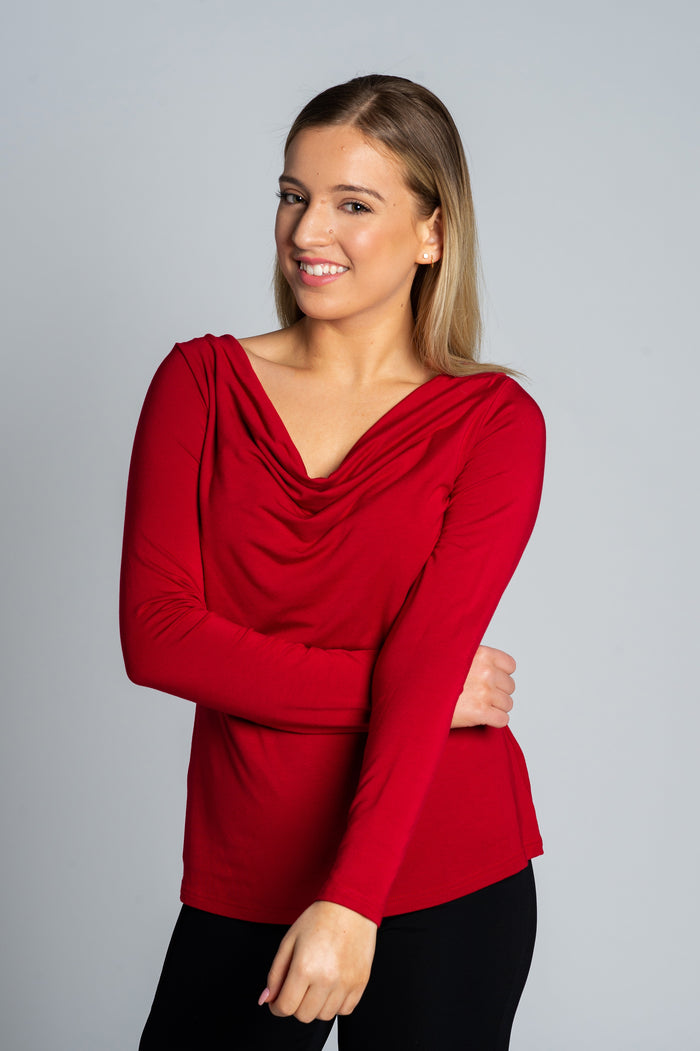 Red Draped Knit - Farinaz Taghavi