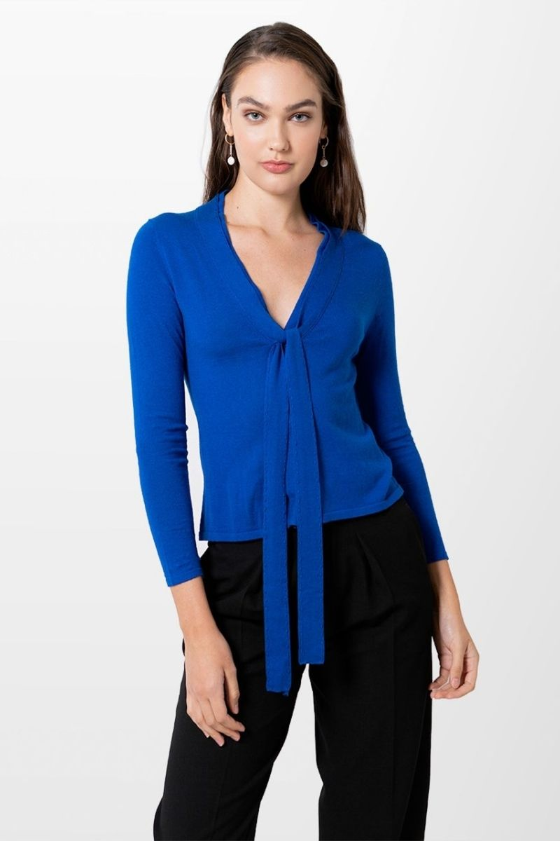 Cashmere Snap Cardigan - Royal Blue
