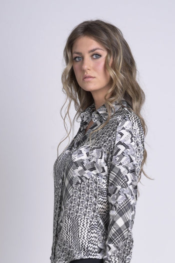 Silver Silk patch Shirt