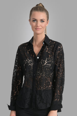 Attitude Lace Shirt - Black