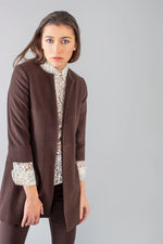 Virgin Wool Jacket - Brown