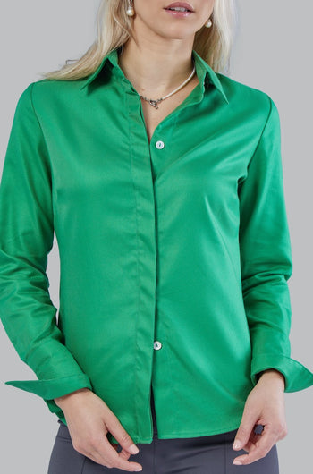 Attitude Style Emerald Green Dress Shirt