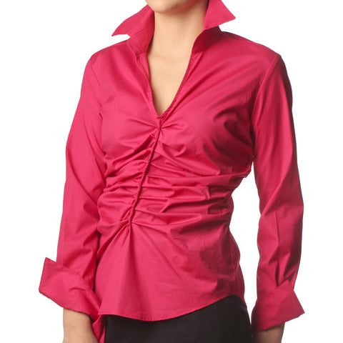 Gather - Fuschia Shirt - Farinaz Taghavi