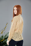 Attitude Lace Shirt in Nude
