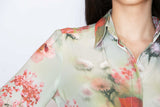 Attitude Shirt - Floral on Meadow Green - Farinaz Taghavi