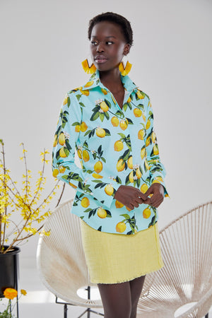 Attitude in Printed Lemon Pattern
