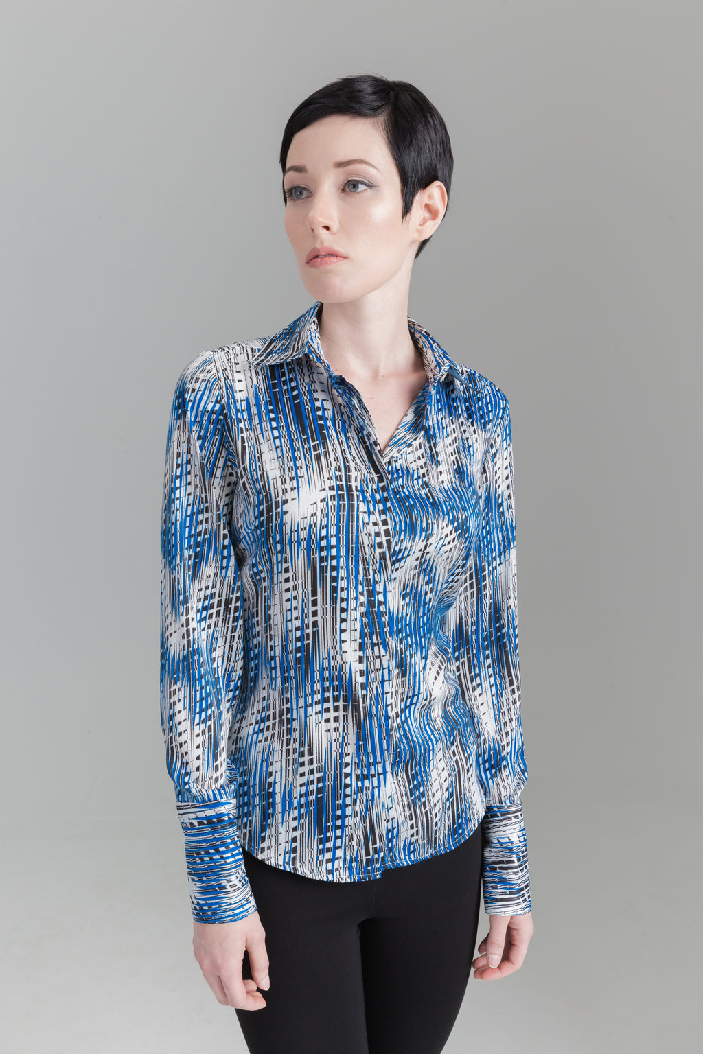 Urban Geometric Blouse - Farinaz Taghavi