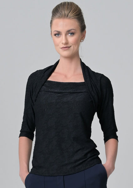 Evoke Black Flower Blouse