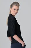 Evoke Black Flower Blouse - Farinaz Taghavi