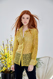 Attitude Lace Shirt in Yellow