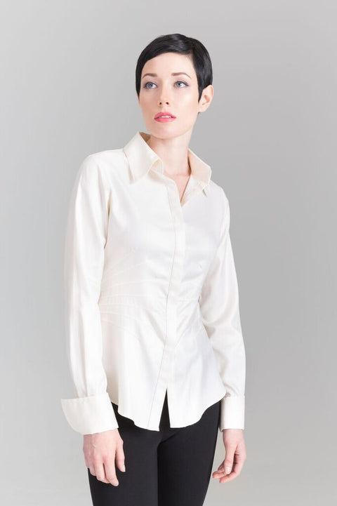 Joy - Cream Shirt - Farinaz Taghavi