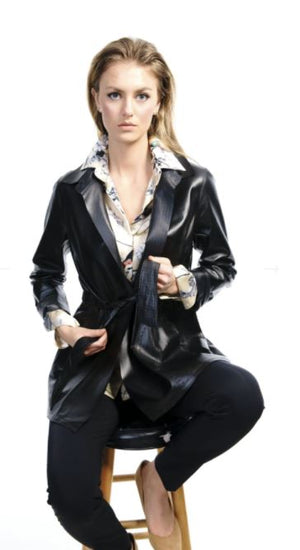 Reversible Leather Trench Jacket