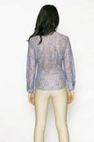 Attitude Lilac Lace Dress Shirt - Farinaz Taghavi