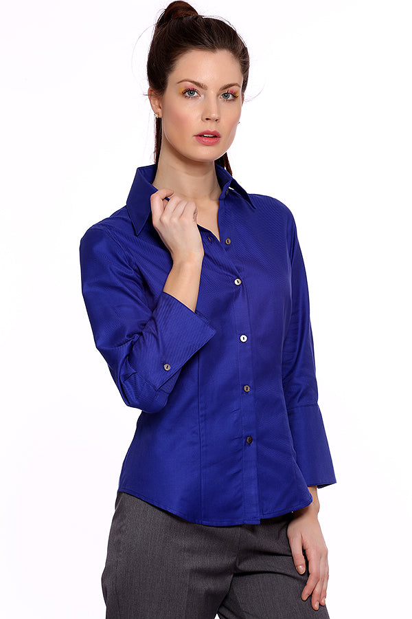 Perfect Shirt - Royal Blue - Farinaz Taghavi