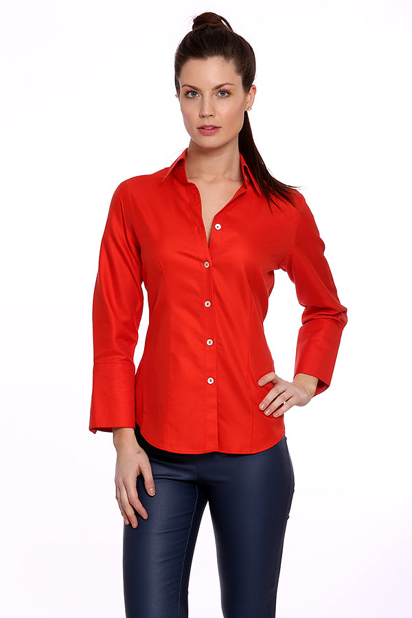 Perfect Shirt - Red - Farinaz Taghavi