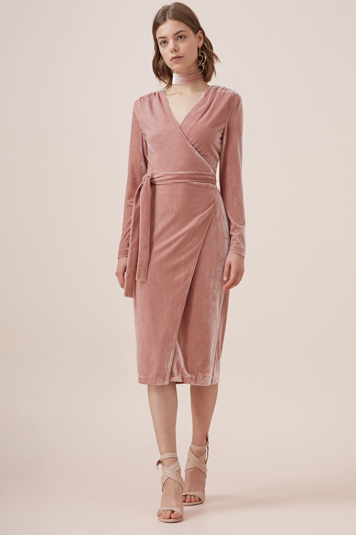 EVENTUALLY L/S MIDI DRESS