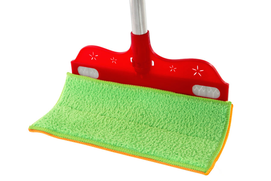 The as seen on tv wonder wipe wet & dry is the flexible dual sided value for money mop and broom