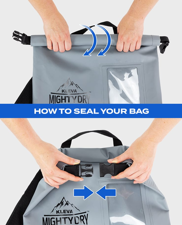 kleva mighty dry bag easy rolling