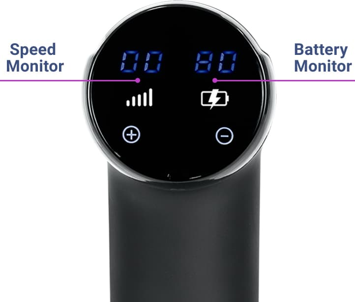 massage gunner battery monitor