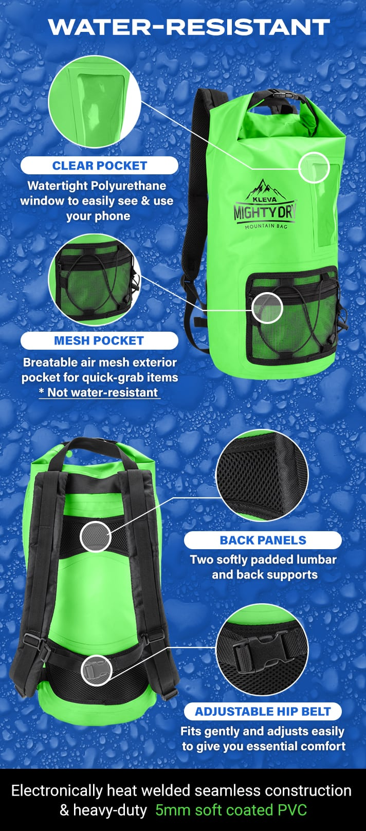 water resistant kleva dry bag image for mobile version