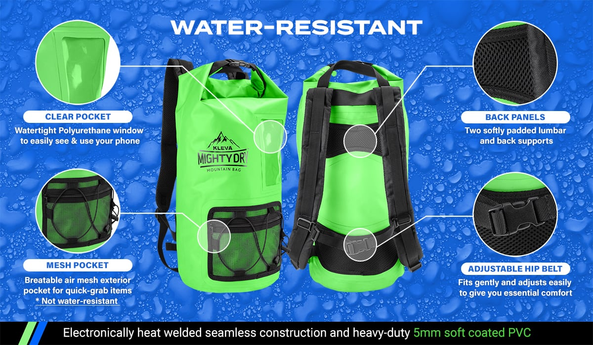 water resistant kleva dry bag
