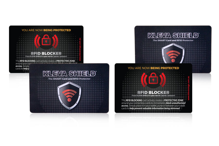 Protect your credit card and identity details from digital theft with the card skimmer protector! Take back control of your privacy with Kleva Shield.