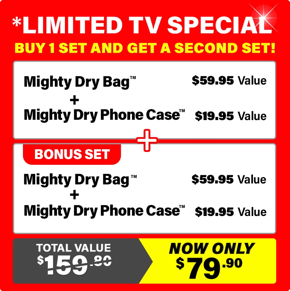 dry bag limited tv special deal