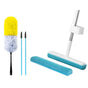 Super Dry Mop in Blue With Replacement Head + Miracle Magnetic Duster + 2x Drain Cleaners - Limited Offer!
